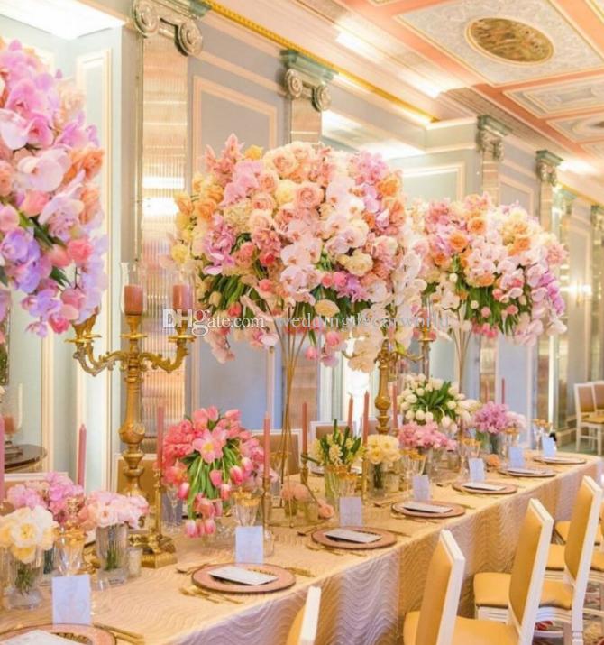 Compre Matrimonio Soporte De Flor Columna Pilar Boda Centro De Mesa Decoración Mental Floral Florero Accesorios Arreglos De Mesa Decor0005 A 1493