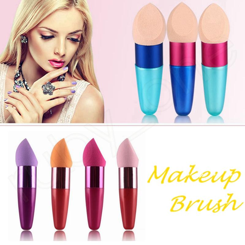 Makeup Schwämme Puff mit Griff Foundation Pinsel Schwamm Flowless Concealer Pinsel Kosmetik Sponge Puff Beauty Tool HAA218