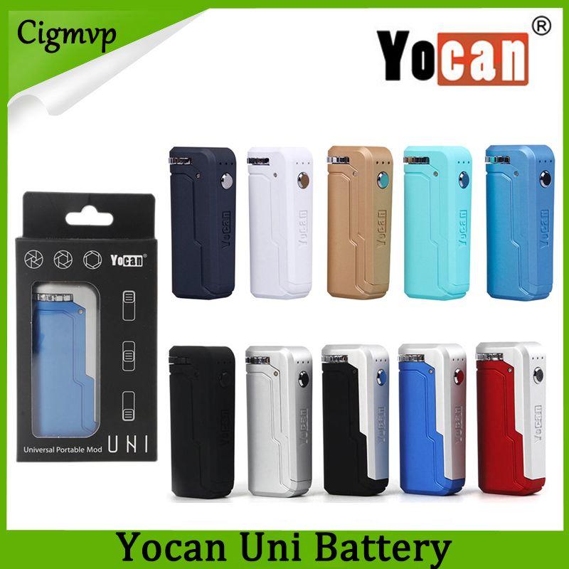 Yocan UNI Box Mod 650mAh Vorheizen VV Variable Voltage Batterie Mit Magnetischen 510 Adapter Für Dicke Ölpatrone Freies Schiff