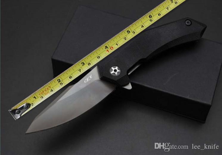 Newer ZT9320 Errore di alta qualità Zero veloce aprendo la cartella pieghevole coltello da caccia Lama di campeggio d2 pieghevole