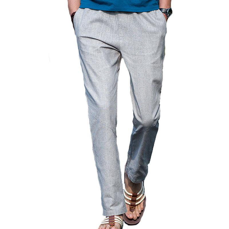 Pantalones al aire libre para hombre de ocio deporte ropa de cama de algodón pantalones pantalones sueltos corriendo caminando escalando hombres talla de la pierna recta pantalón
