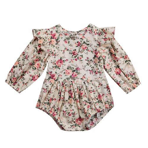 Toddler Baby Girls Dress Long Sleeve Party Overalls Dresses Kids Autumn Clothes