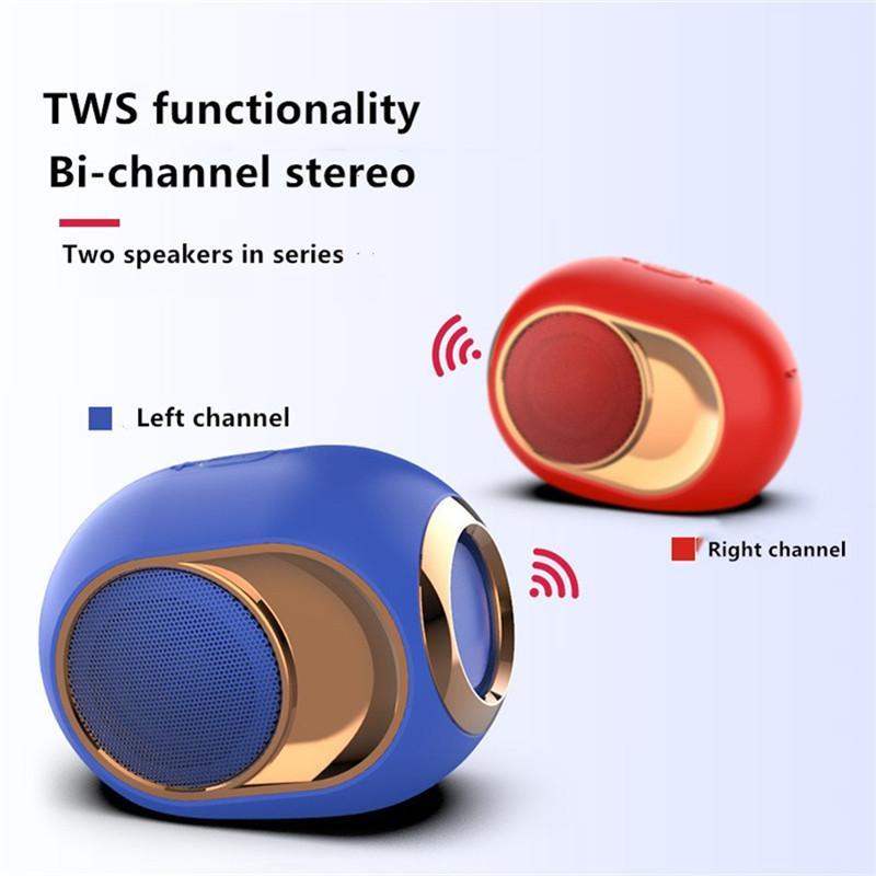 Quatre couleurs Musique Haut-parleurs Bluetooth haut-parleur portable sans fil stéréo Surround super avec TF Soundbar HIFI carte de 3,5 mm Aux câble Play Music