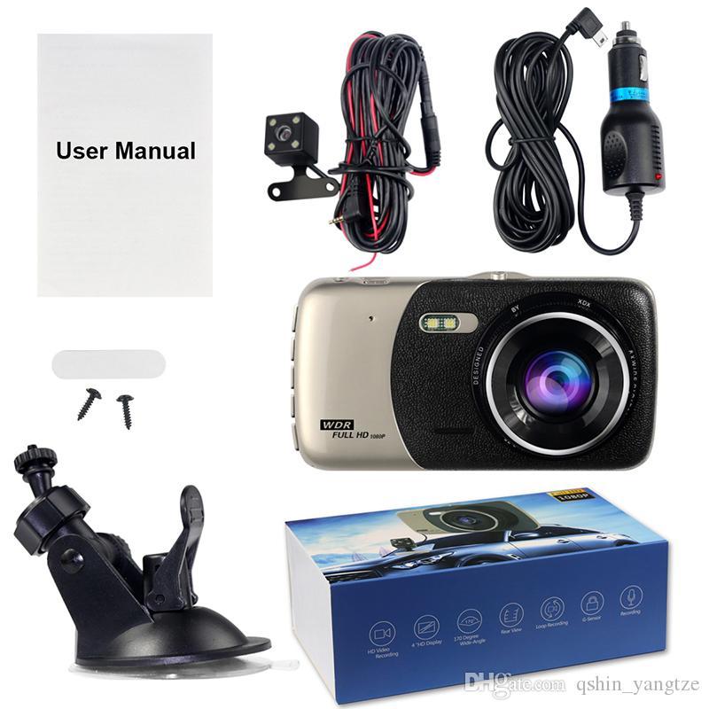 """1080P HD registrazione movimento griglia parcheggio 3.7"""" camera car DVR 2Cr parabrezza registratore digitale scatola nera G-sensore del ciclo di rilevamento"""
