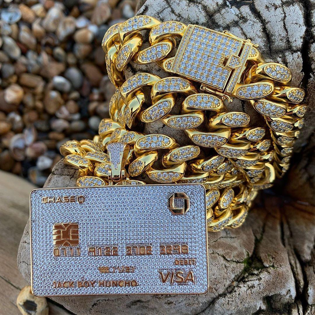 Completamente congelado Cartão de Crédito Out Colar Pingente Mens Ouro Cor Prata Hip Hop Jóias Com Tennis Cadeia Charme CZ Jóias Presentes