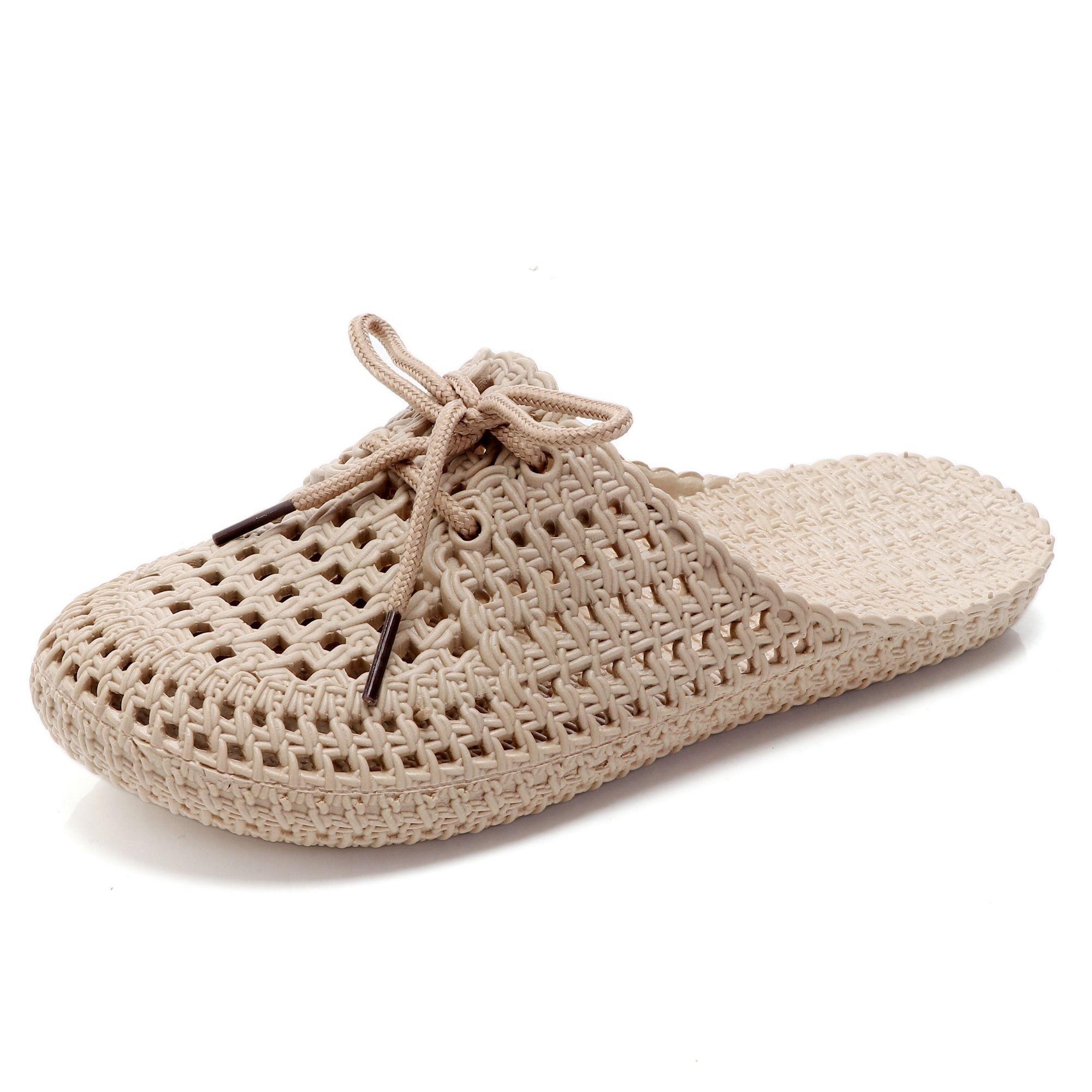 Taze ayaklar yaşlı yaratıcı bayanlar yaz Kadın sandalet zemin yetişkin yumuşak alt Baotou ayakkabı terlik