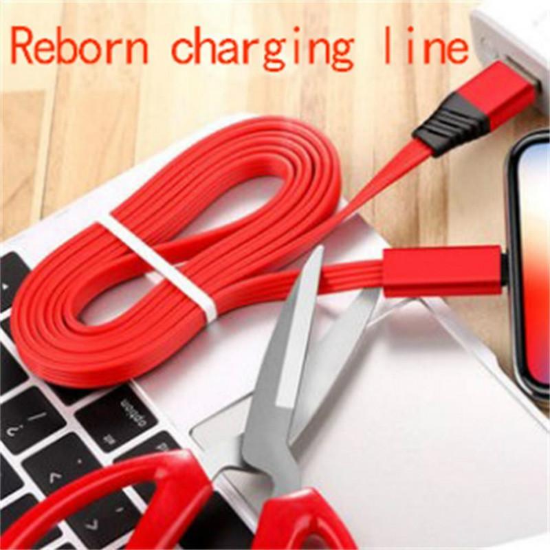 DHL Stock New возродиться зарядками линии С-типа USB кабеля 2.1a ремонтопригодной линии передачи данных для 8 7 Samsung S9 Xiaomi ми 8 Huawei телефонного кабеля