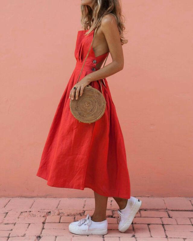 Boho del verano vestido de las señoras de las mujeres ocasionales del partido de tarde maxi largo de Clubwear del vestido de la playa Vestido de tirantes 2019 de la nueva marca flojos niñas