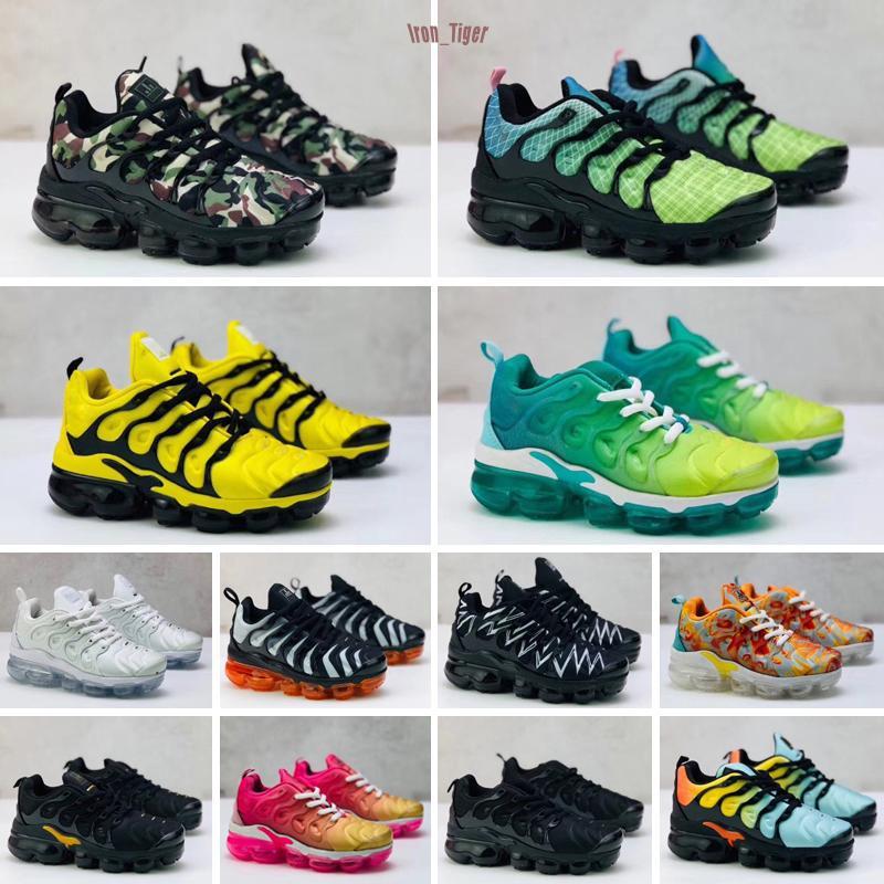 2020 zapatos de moda para niños Tn, más bebés niños pequeños niños que caminan entrenador zapatos corrientes de la muchacha del muchacho del bebé Utilidad preescolar deportes al aire libre zapatilla de deporte