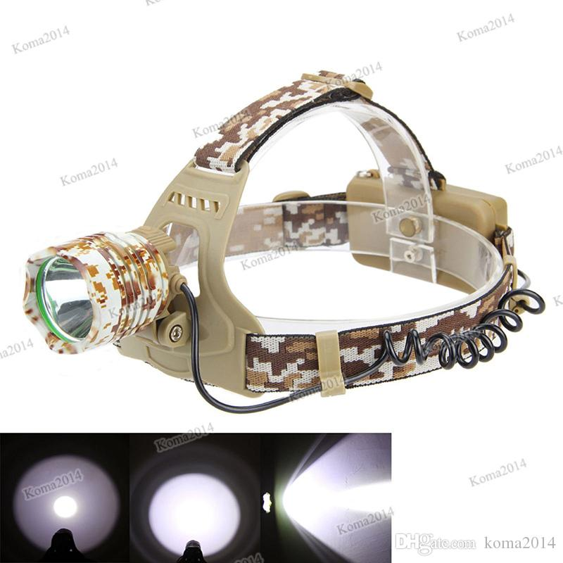 Portable LED Headlamp Headlight Camouflage led Head Lamp Rechargeable Flashlight Camping Hiking Fishing Hunting Head Torch Light