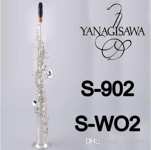 عالية الجودة اليابان ياناجيساوا 902 B شقة الموسيقى أداة سوبرانو الساكسفون ياناجيساوا الشحن مجانا ساكس مباشرة