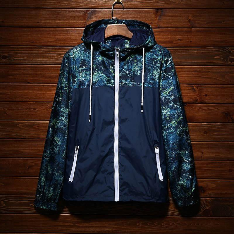 남성 재킷 가을 일 보호 코트 고품질 얇은 바람막이 점퍼 아웃 도어 스포츠 위장 재킷 스트리트