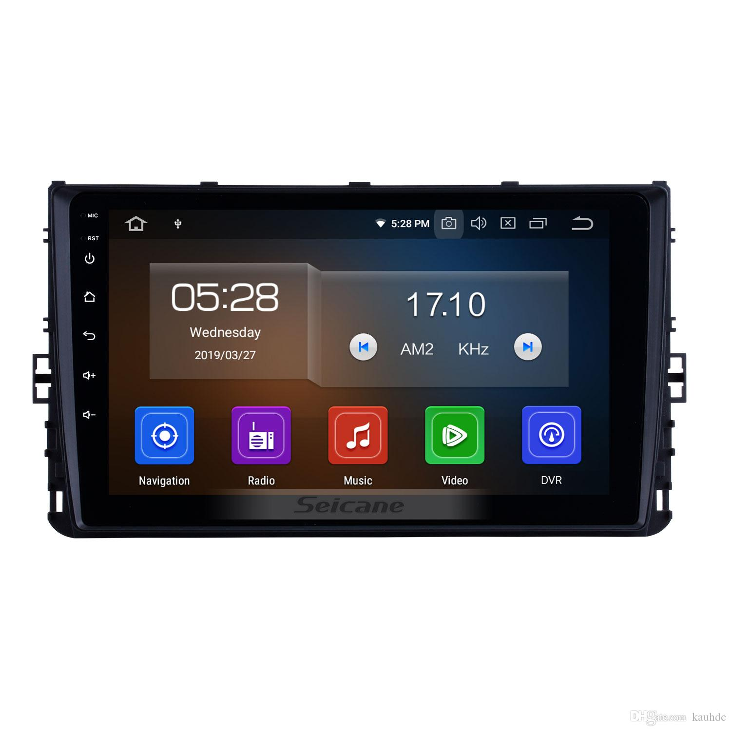 OEM 9 inch Android 9.0 HD Touchscreen Car Stereo GPS Navigation for 2018 VW Volkswagen Universal with WIFI Bluetooth support car dvd DVR