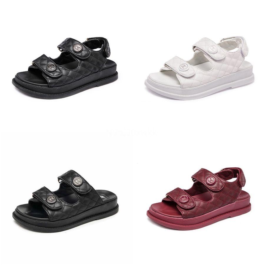 2020 Womens Strand-Sandelholz-Frühlings-Sommer-Damen-Schuhe gesponnene flache Ferse Slides römische Schuhe Mode Loafers Flip Flops Chaussures # 723