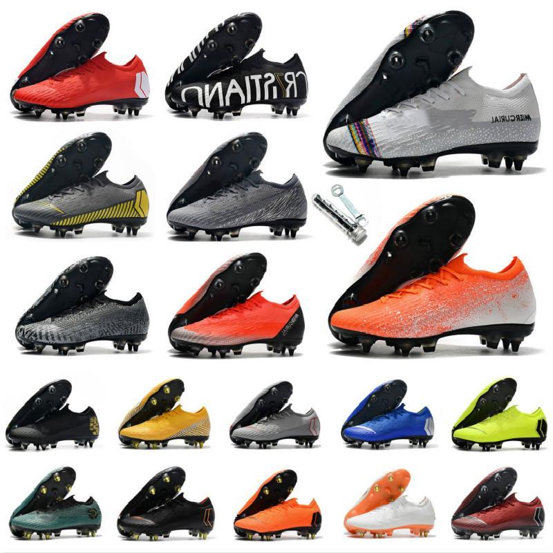 2019 Hot Mercurial Vapors Fury XII VII VI Elite SC AC 7 12 6 Ronaldo CR7 NJR Neymar Hommes Chaussures de soccer Chaussures de football Taille US6.5-US11