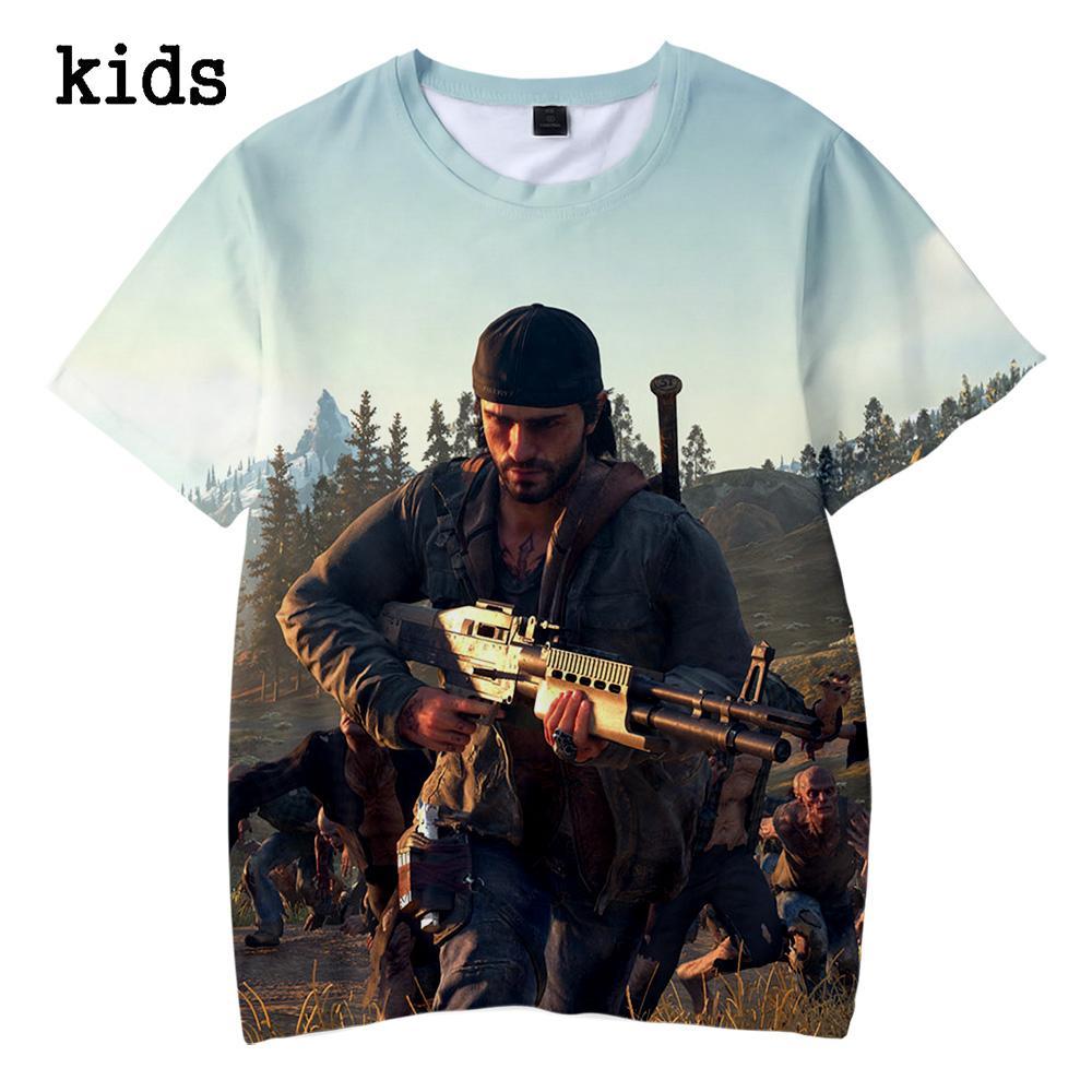 Año 2019 Días pasados Camiseta de verano para niños Camiseta con estampado 3d para niños, niñas y niños Ropa 4 5 6 7 8 9 10 12 Año