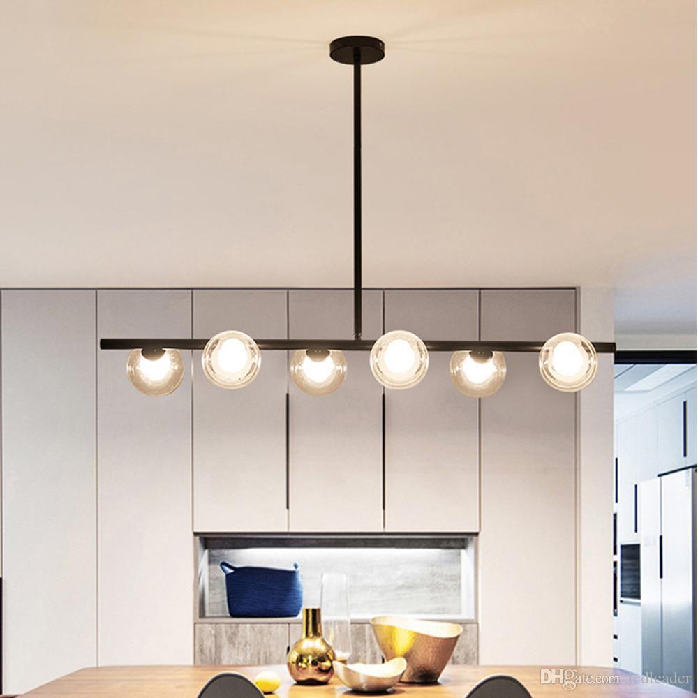 Nordic Modern Led Chandelier Lighting Black Gold Large Hanging