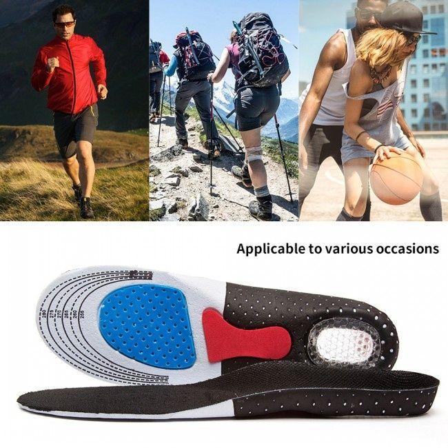 Nuovo Formato libero uomini Orthotic Arch Sport Support rilievo del pattino di sport che funziona Gel Insoles Inserire l'ammortizzatore per gli uomini Cura dei piedi