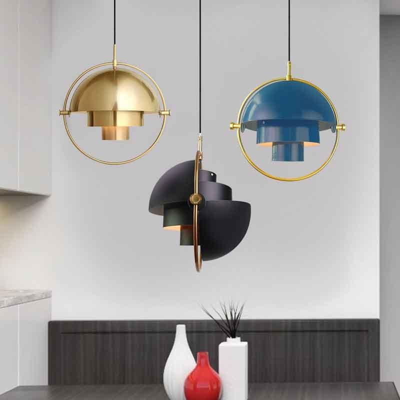 Demark Art Decor Ciondolo moderno di illuminazione ruotabile sfera Lampada a sospensione per Camera / Hotel Vintage Bar appendere le luci / Sospensione