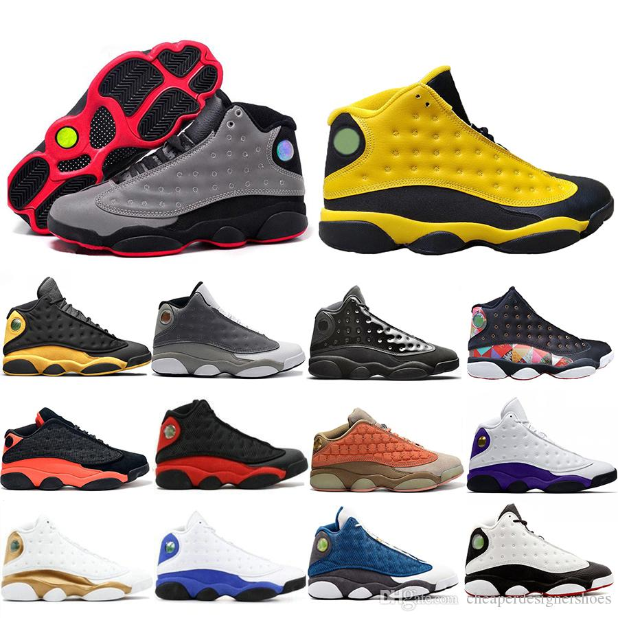 Nueva llegada 3M Reflective Rivals 13 13s Zapatillas de baloncesto Black Infrared Terracotta Blush Cap And Gown Atmosphere Grey Trainers Sneakers 7-13