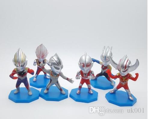 6 stil Ultraman superman model oyuncak erkek hediyeler bebek çocuklar için hediye mevcut sıcak satmak