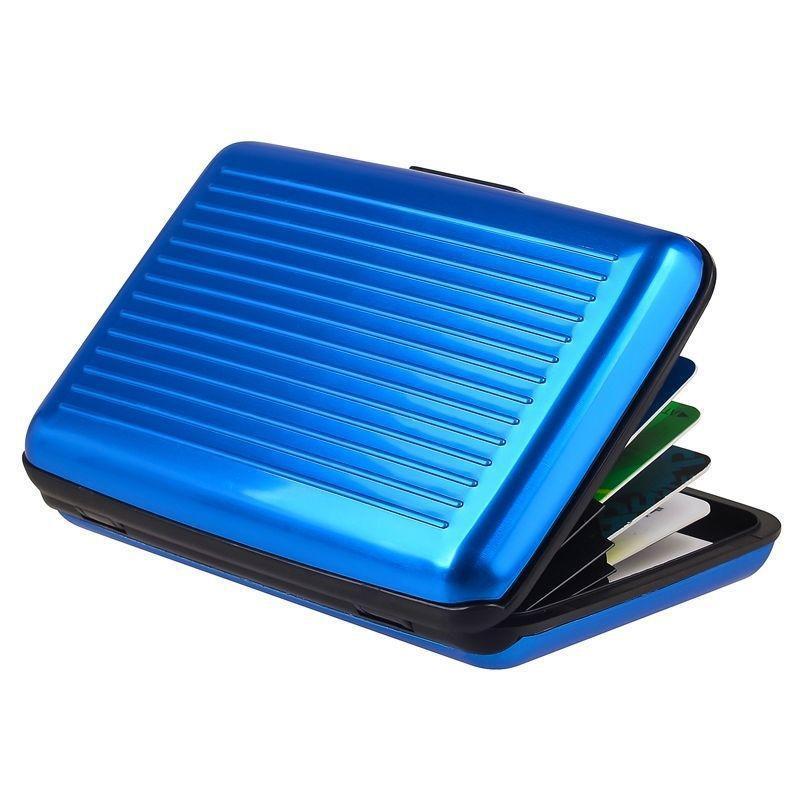 Pocket ID Cartes de crédit Porte-monnaie Porte- Boîte aluminium métal carte d'identité Paquet Banque-cartes de crédit aux entreprises étanches détenteurs DBC VT0203