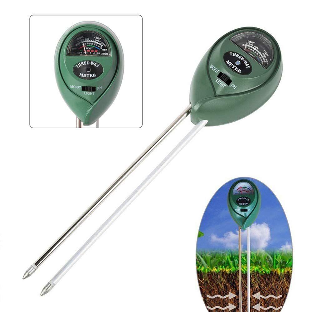 Тестер почвы, 3-в-1 Датчик влажности, солнечного света и pH. Тест-наборы для почвы Садовый инструмент, функция тестирования воды для дома и сада