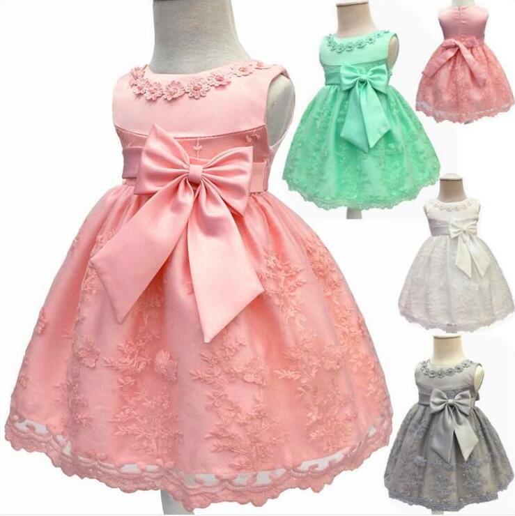 Lace Tutu Dresses Kids Clothes Formal Bridesmaid Wedding Dresses Ball Gown Princess Party Dresses Dance Photography Costume 18 Colors A4664