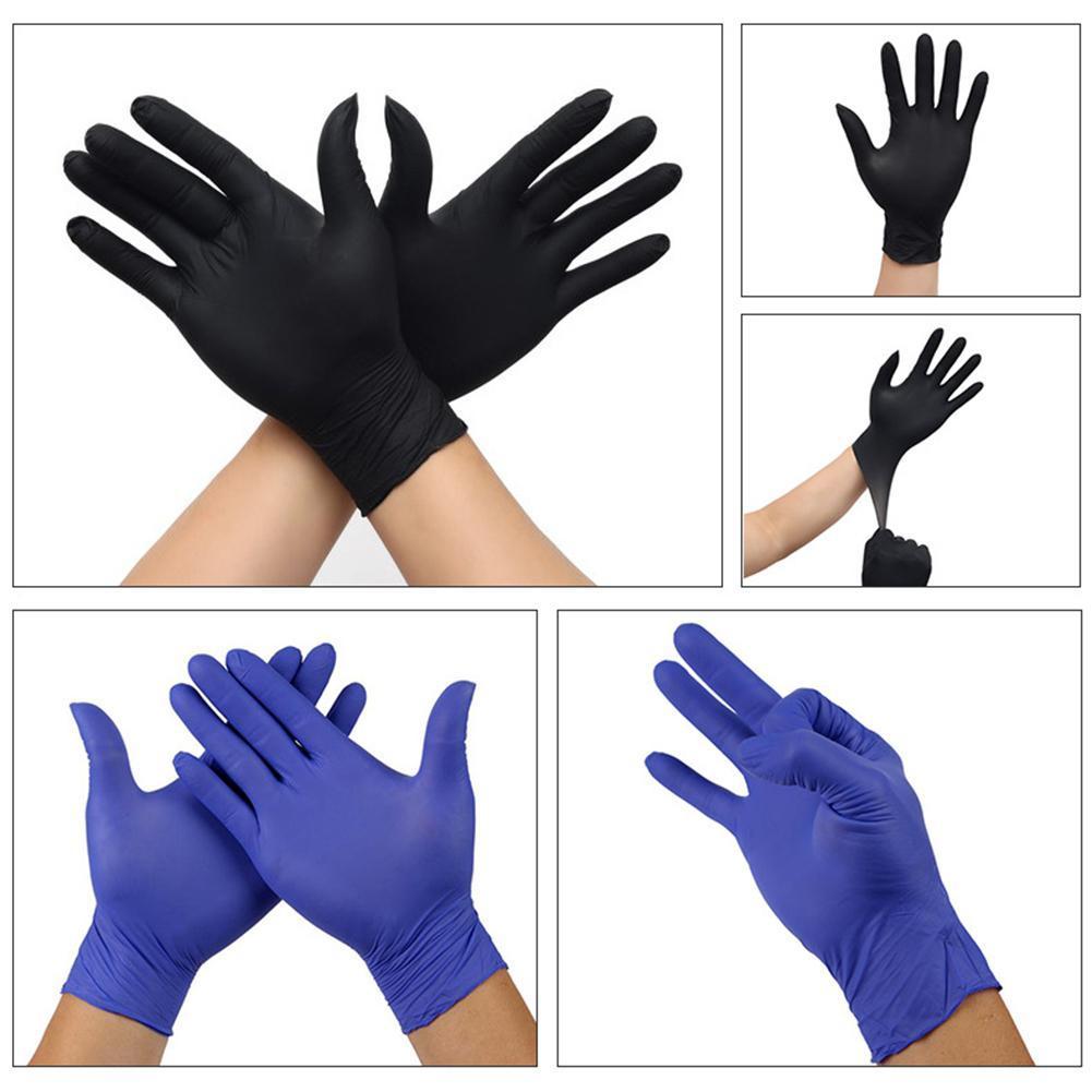 100Pcs Unisex monouso Housework pulizia meccanico di protezione Guanti in nitrile impermeabile