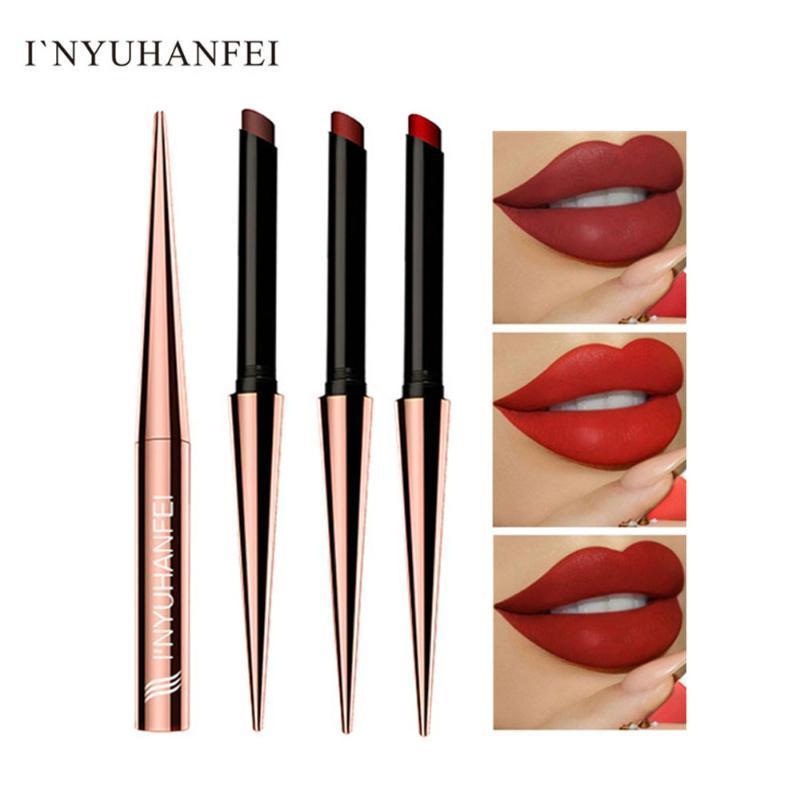 I'NYUHANFEI trucco rossetto opaco di lunga durata Labbra MaSmoky Cosmetics Stick Labbra Make up Tint Lip impermeabile Mate Batom