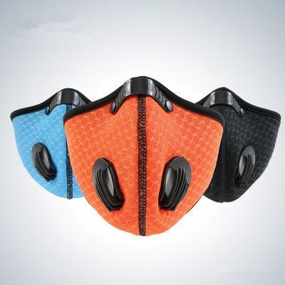 Activé masque de carbone, antipoussière, froid et à la formation chaude courante, filet perméable à l'air, masque imprimé, vélo, masque extérieur