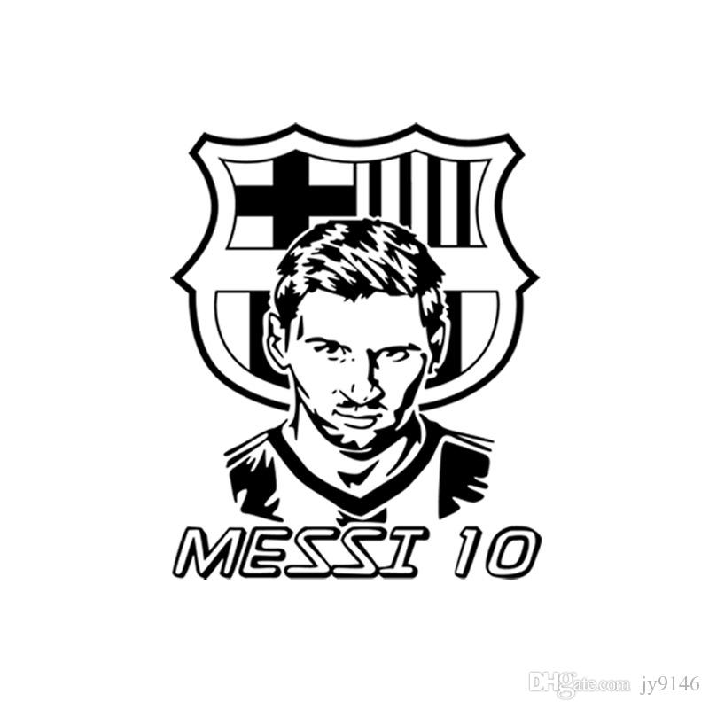 Large Messi NO.10 Wall Decal Soccer Decor DIY Football Star Sticker Murals for Living Room Bedroom and Boys Room Decor Messi Posters