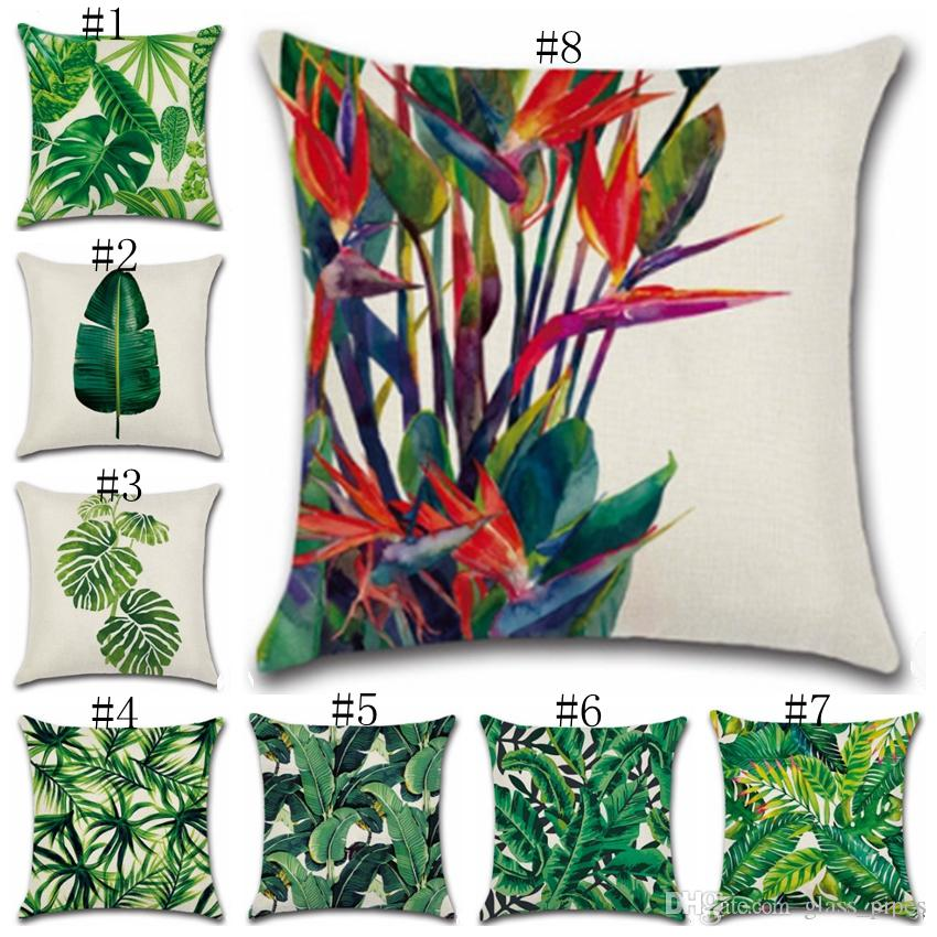 tropical home decor items pillow covers tropical plant cushion cover rainforest sofa throw  pillow covers tropical plant cushion
