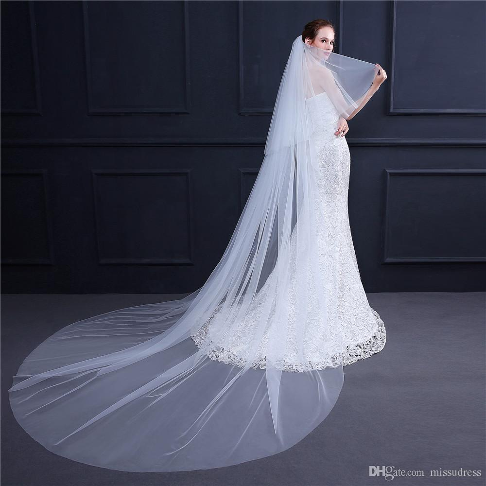 3M White//Ivory Wedding Veil Multi-layer long Bridal Veil Head Veil Accessories