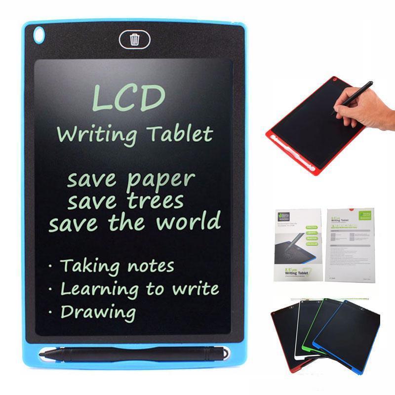 8.5 인치 LCD 쓰기 태블릿 그리기 업그레이드 된 펜 어린이 종이를 메모장 화이트 보드 메모에 대한 보드 칠판 필기 패드 선물