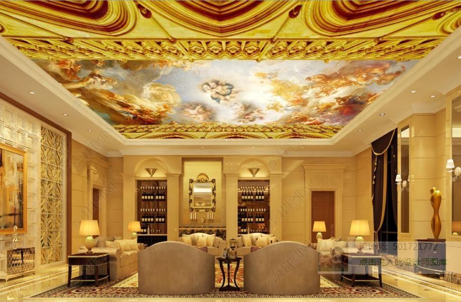 пользовательские 3d потолочные обои для спальни гостиной спальни стены 3d обои для потолка Ангел небо фреска обои