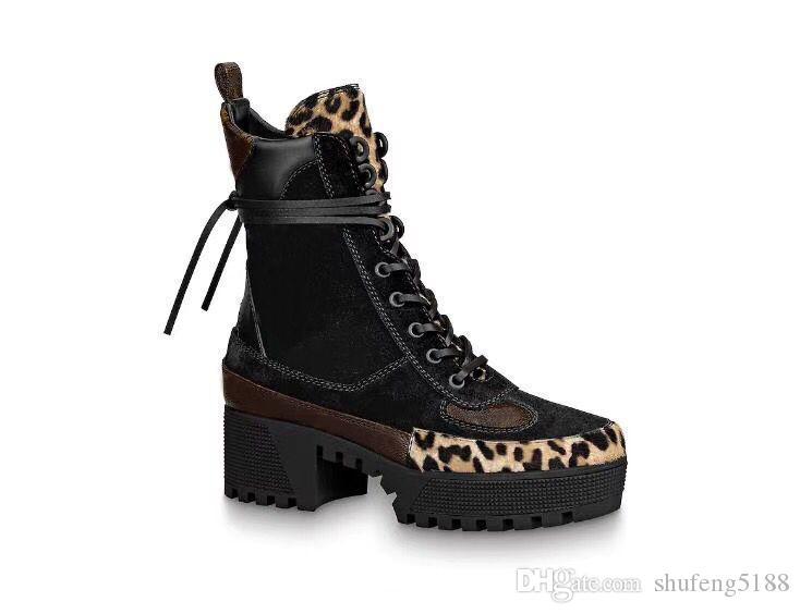 Casual Mode Femmes 2020 Haut-Top Espadrilles Martin Chaussures moto dentelle lacée espadrilles pour femmes en cuir véritable chausse des bottes