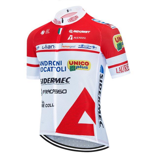 의류 자전거 저지 로파 Ciclismo 사이클링 투어 드 프랑스 2020 프로 팀 ANDRONI 사이클링 저지 여름 통기성 MTB