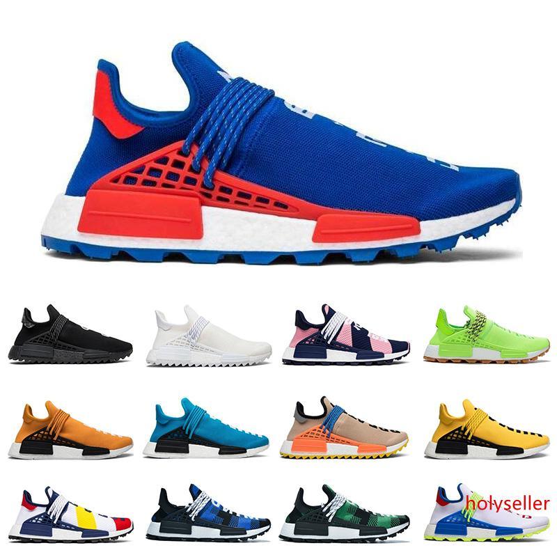 koşu ayakkabıları insan ırkı hu Pharrell Williams erkekler kadınlar Siyah Boş Tuval Eve Dönüş Güneş Paketi Anne eğitmen spor sneaker 36-47 ineği