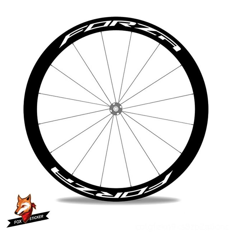 1 Pair Bikes Cycling 700c Road Disc Brake Bicycle Carbon Wheelset Sticker 243038405055608088mm Bicycle Wheels Decal for 4ZAForza Disc