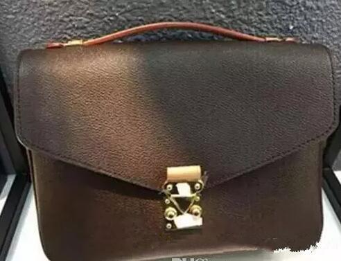 O envio gratuito de alta qualidade em couro genuíno das mulheres bolsa pochette sacos de ombro Metis crossbody sacos de mensageiro bagM40780.