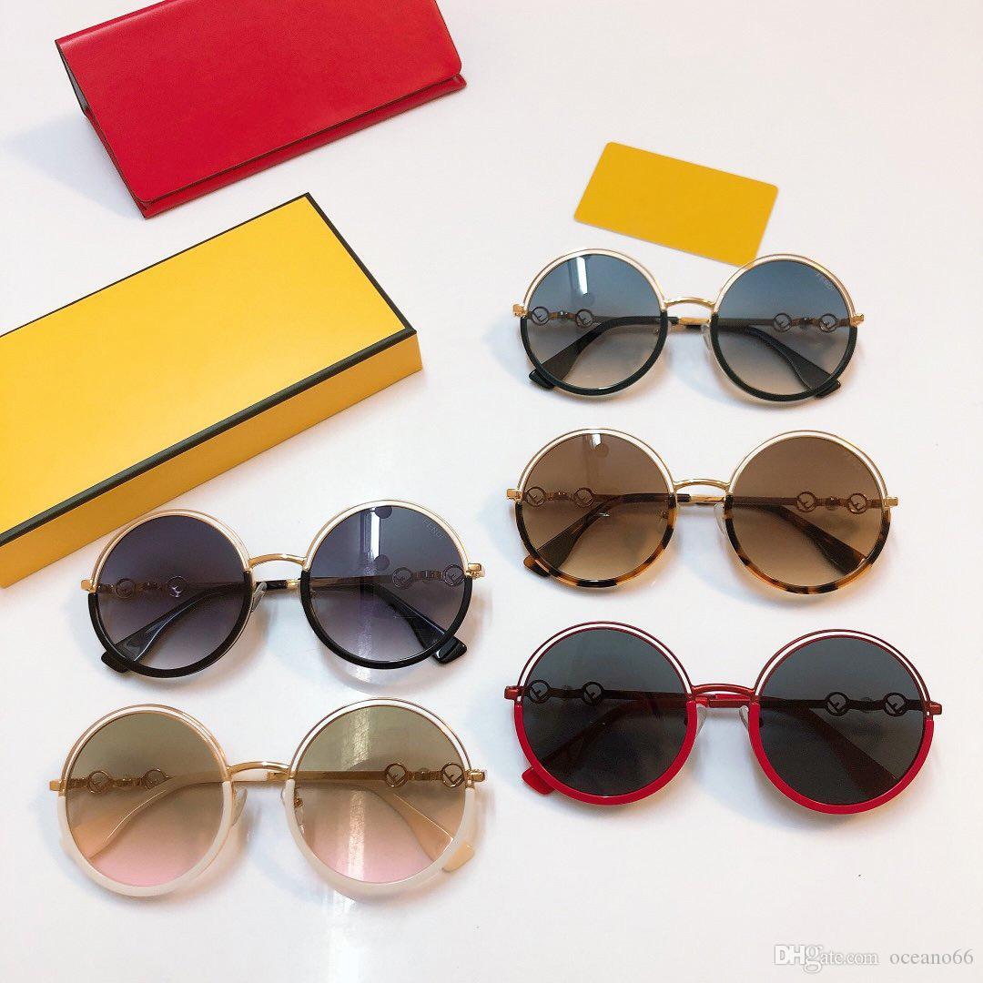 Luxus-Sonnenbrille 0386 Randlosbrille Anschluss Objektiv UV400 Frauen Designer UV-Schutz-Objektiv-Sommer-Art Sonnenbrille Drop-Shipping