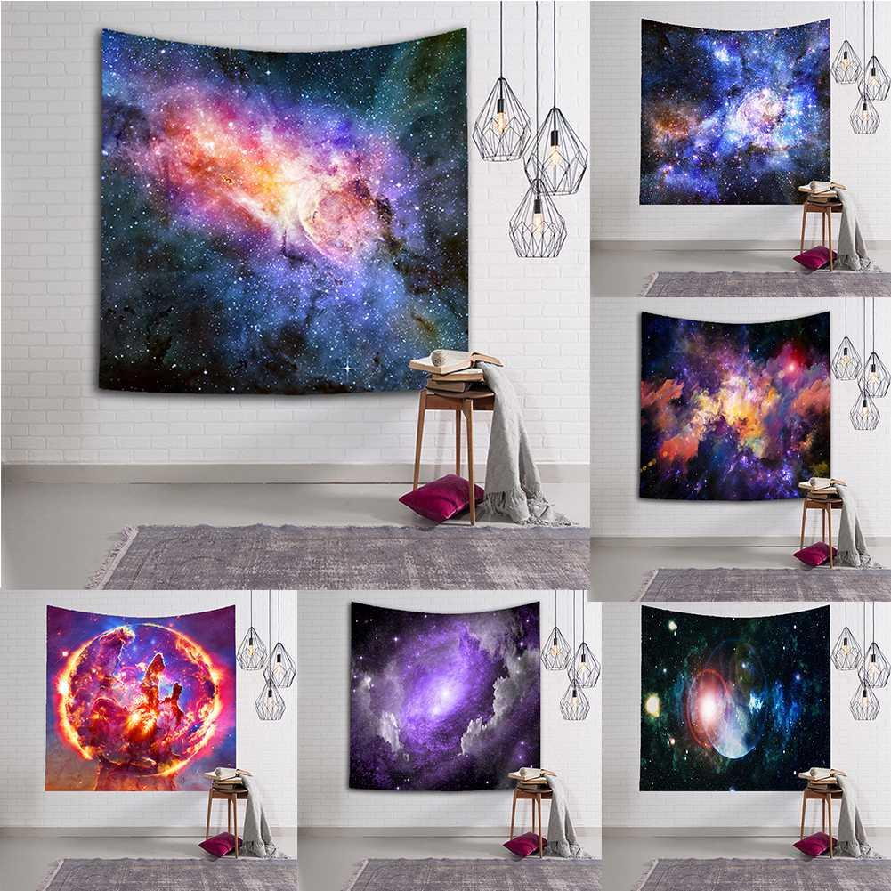 Galaxy Sternenhimmel Tapestry Room Wandbehang Strandtuch Decke Home Decoration