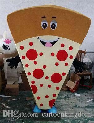 2019 Sıcak satış Pizza Maskot Kostüm Fantezi Elbise Noel Karnaval Performans Giyim Yetişkin Boyutu Gıda Takım Elbise