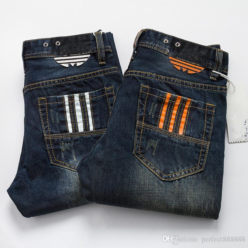 AD0088 ADJ-JEANS Frühjahr Herbst Outdoor-Hosen Thick Hosehose Stretch Jeans Baumwollgeschäft lässige Hose Hose