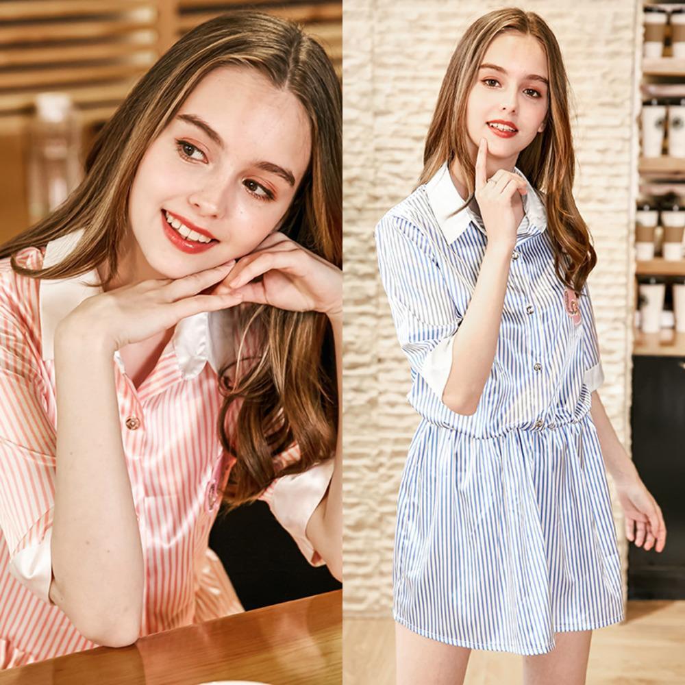 Hipster Silk wie Polyester Nightgown Love Shirt Frauen Sexy Pyjamas Startseite Kleidung Sq825