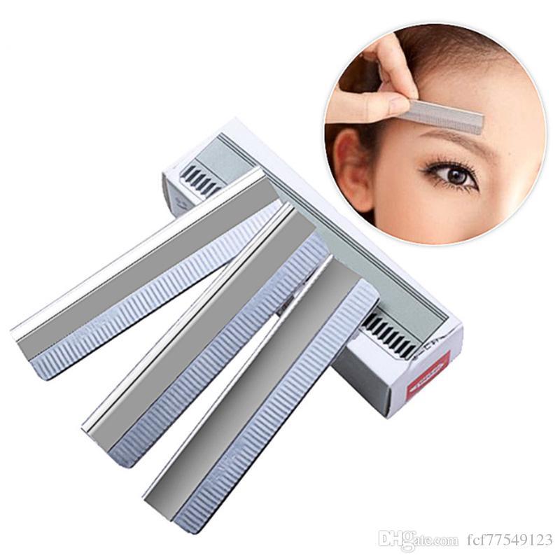 TAMAX NA022 Taille de sourcils En acier inoxydable Femmes Couteau à sourcils Sécurité Lames de rasoir Maquillage Professionnel Maquillage Maquillage Razor Blade de rasoir
