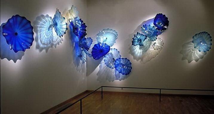 Арт-дизайн выдувное стекло стены пластины многоцветный современный Кристалл муранского стекла искусства декоративные настенные тарелки для декора дома