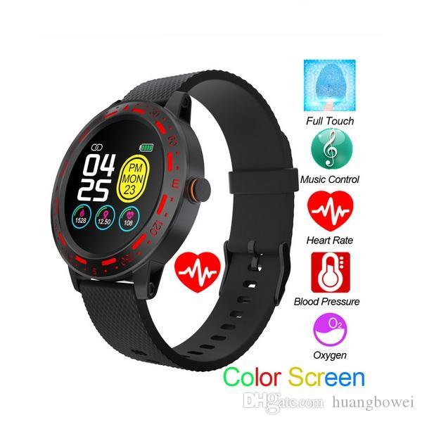 Deporte al aire libre inteligente reloj S18 SmartWatch rastreador de ejercicios de sincronización IP67 Mensaje recordatorio a distancia foto de la foto con el paquete al por menor
