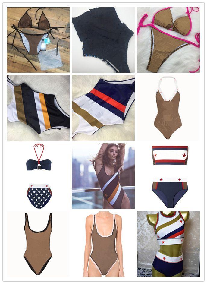 FD MAILLOT New Style dame Maillot une pièce Femmes Plus Size Maillots de bain Retro Vintage Maillots de bain lettre F Beachwear Imprimé Maillot de bain S-XL